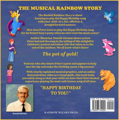 The Musical Rainbow Story - Back Cover